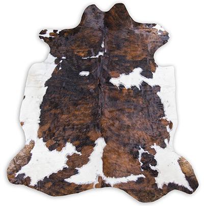 tricolor cowhide rug