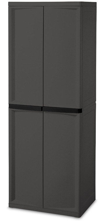 sterilite 4shelf cabinet