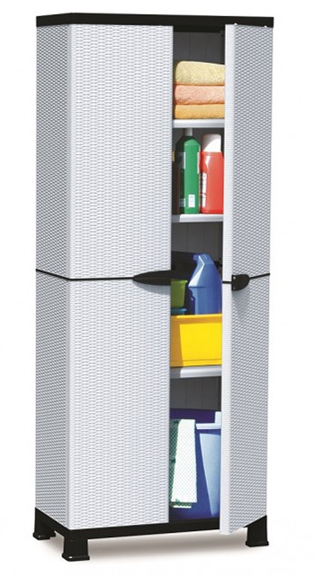 plastic storage cabinet. Plain Plastic Plascoline Madera 3Shelf Utility Cabinet Throughout Plastic Storage S