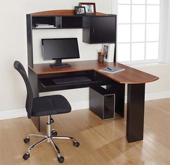 ameriwood lshaped office desk