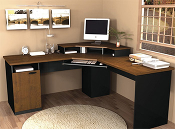 corner workstations for home office. Plain Office Bestar Hampton Home Office Corner Desk And Workstations For