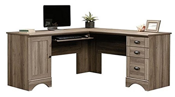 sauder harbor lshaped desk