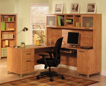 Bush Somerset 71u2033 L Desk