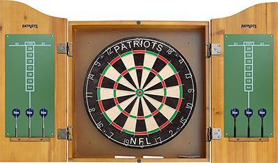 nfl dart cabinet set