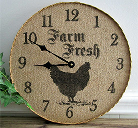 Barnyard Animals Kitchen Wall Clock