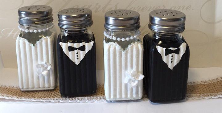 Wedding Salt Pepper Shakers
