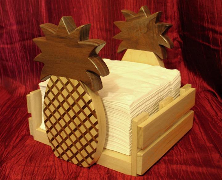 pineapple napkin holders