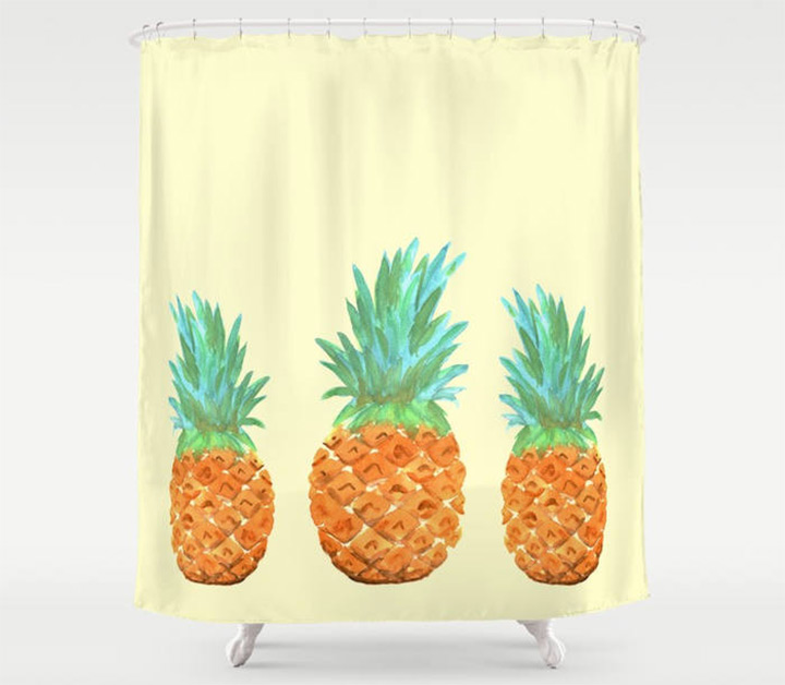 pineapple shower curtains