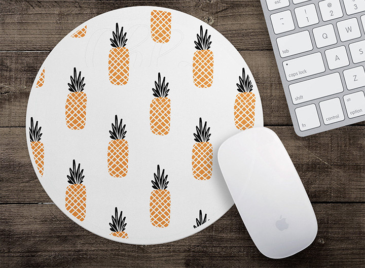 pineapple mousepads