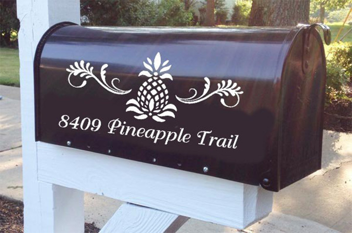 pineapple mailboxes