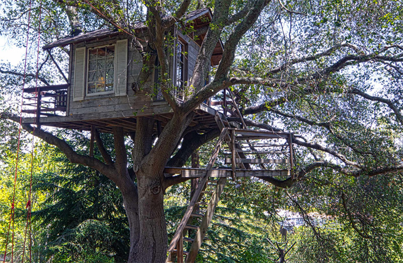 Kids Tree House Beautiful Backyard Rustic Treehouse Design Intended