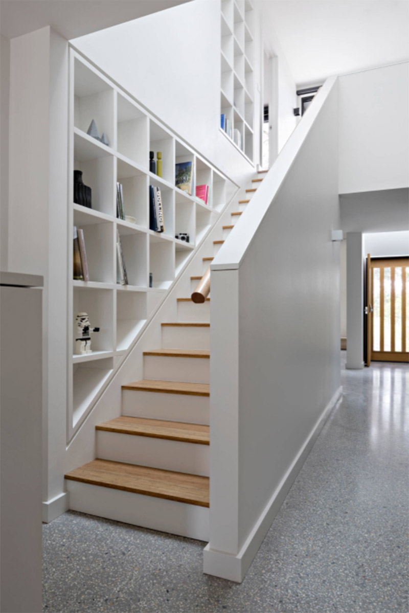 Awesome Staircase And Shelf Cubbies Lakehouse