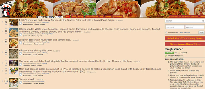 20 subreddits on home cooking recipes full home living tonights dinner subreddit forumfinder