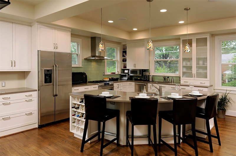 Rounded Kitchen Islands For Home Design Inspiration - Full Home Living