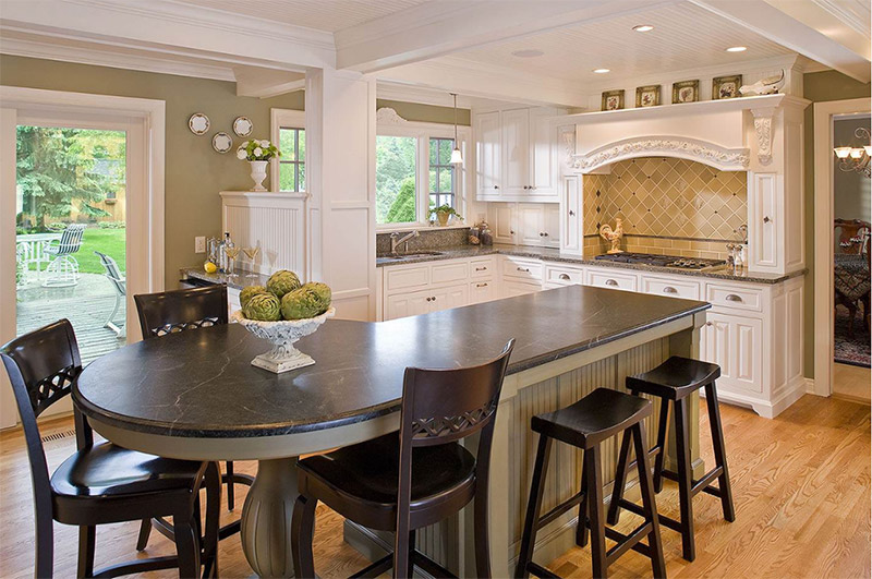 Extra Long Kitchen Island rounded kitchen islands for home design inspiration - full home living