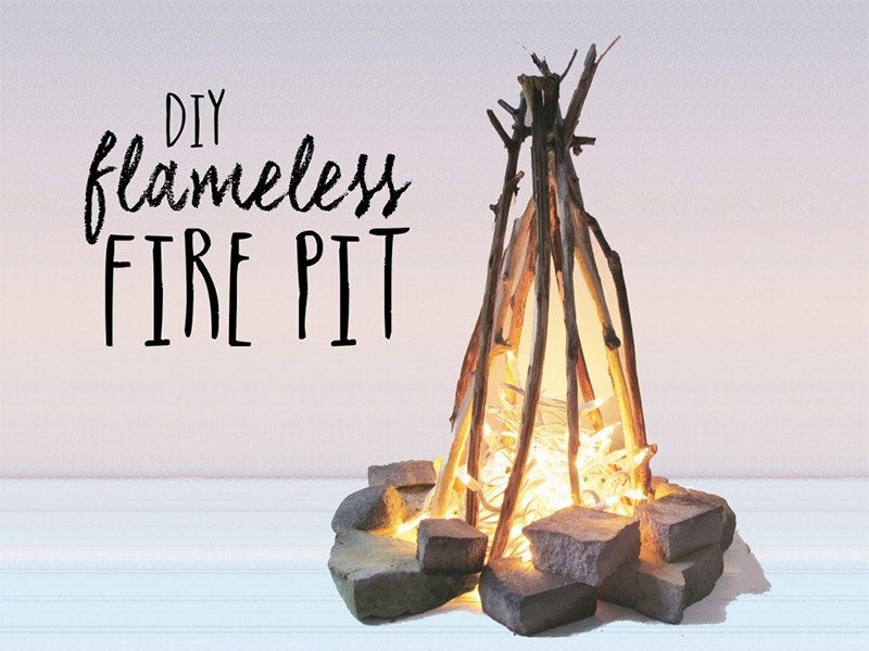 Natural and Easy Firepit - 10 DIY Flameless Firepit Projects - Full Home Living
