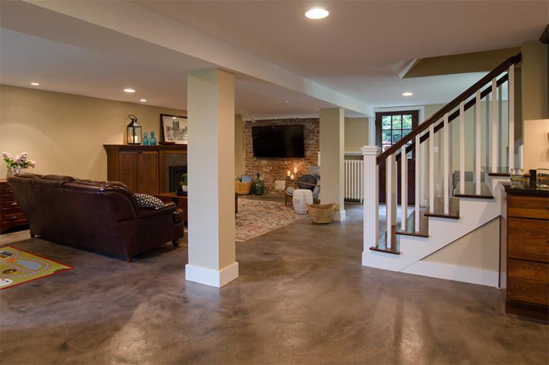seattle basement furnished minimalist