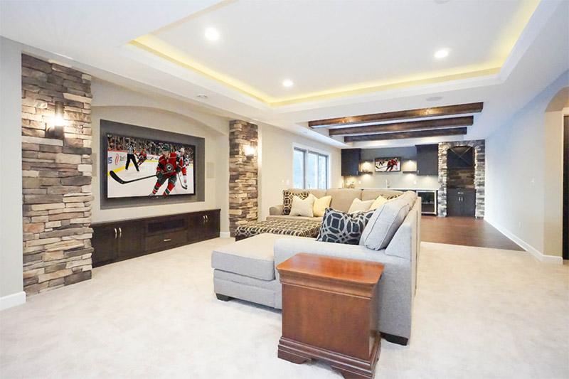 iron river court basement interior