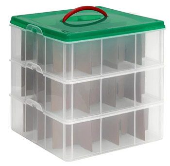 snapware ornament storage
