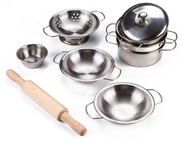 toyerbee pretend kitchen pots