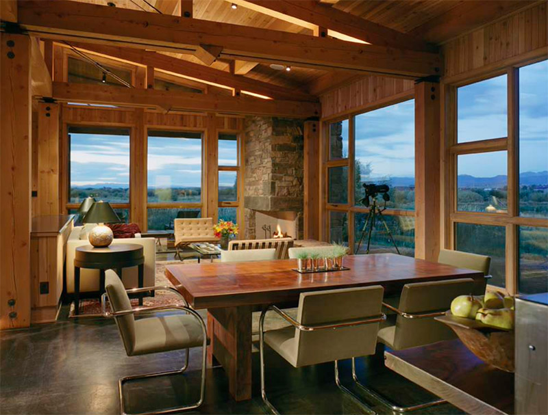 new fork dining room cabin