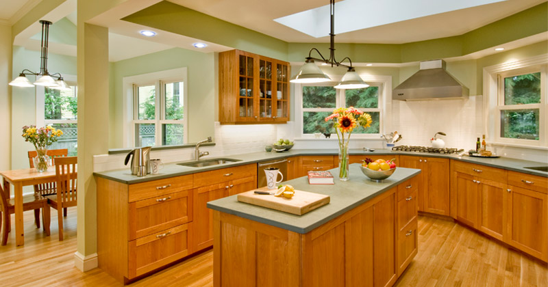 Kitchen Interiors Interesting Green Kitchen Interiors For Home Design Ideas  Full Home Living