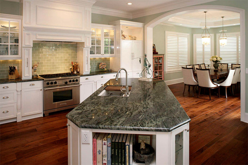 interior minor green colors kitchen design