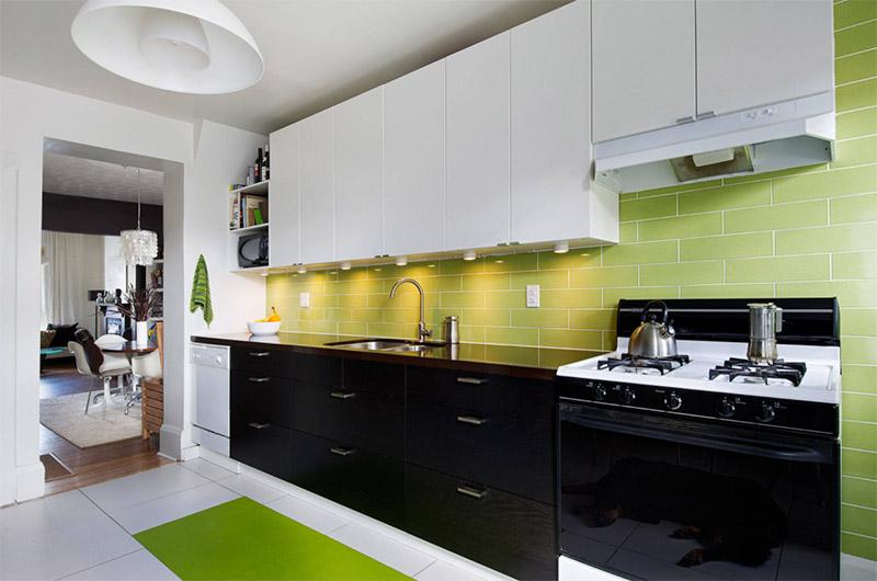 Green Kitchen Interiors For Home Design Ideas - Full Home Living
