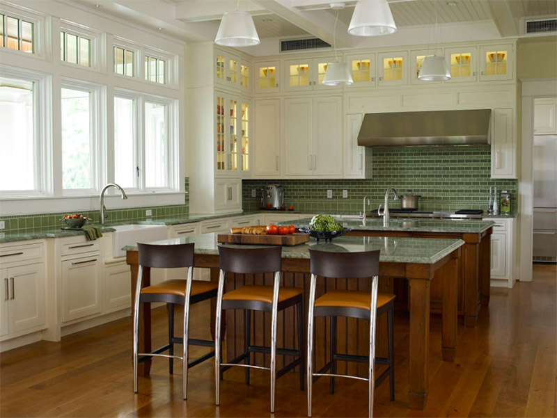 dark green kitchen counters stylish
