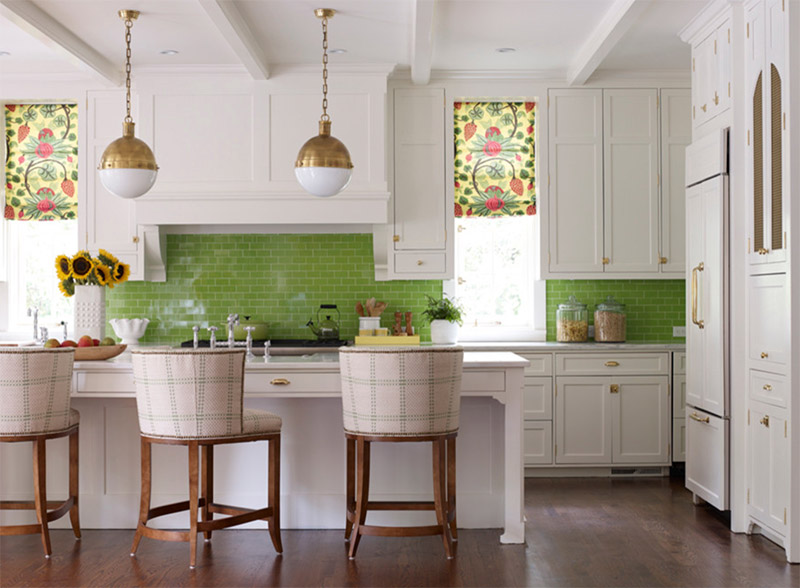 Green Kitchen Interiors For Home Design Ideas