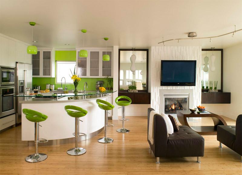 green LAX kitchen interior