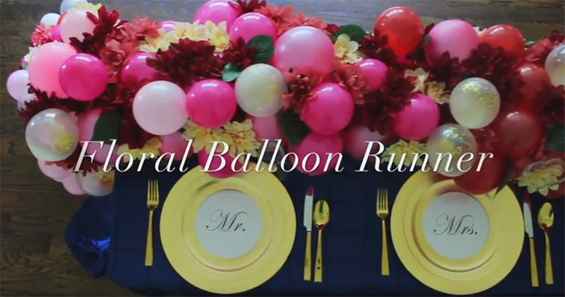 floral balloon table runner video