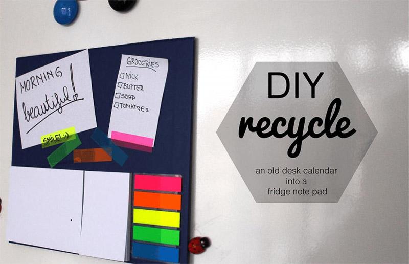 recycled desk calendar pinup