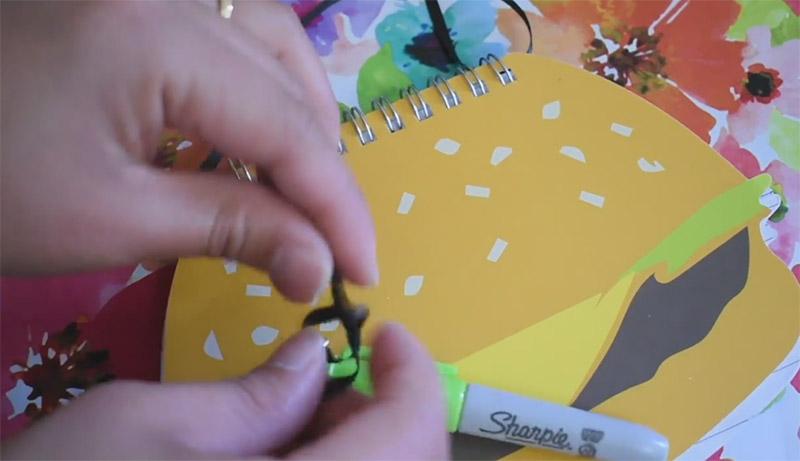 hamburger notepad