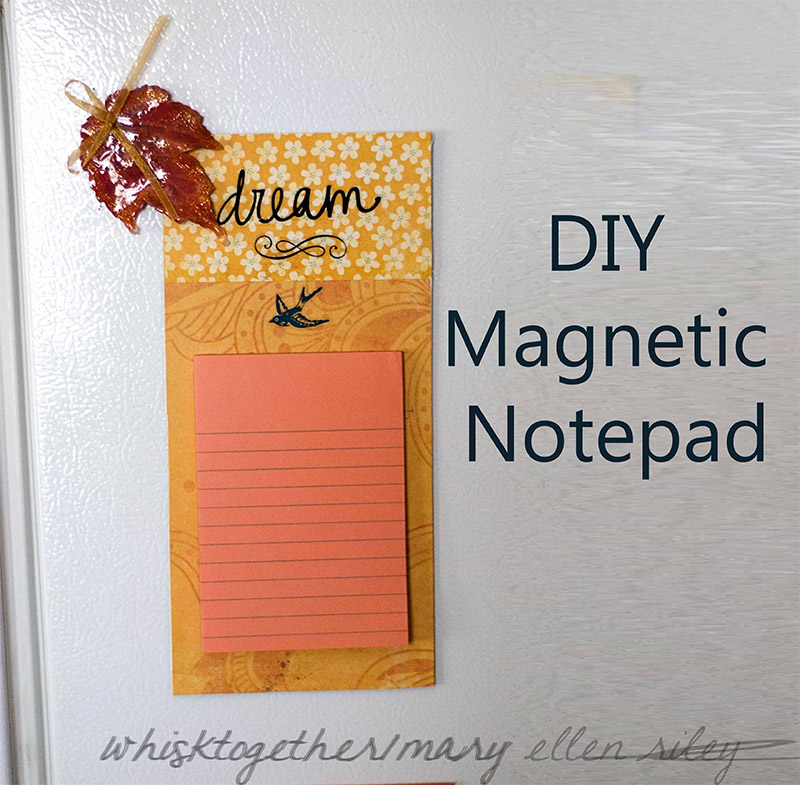 magnetic notepad diy