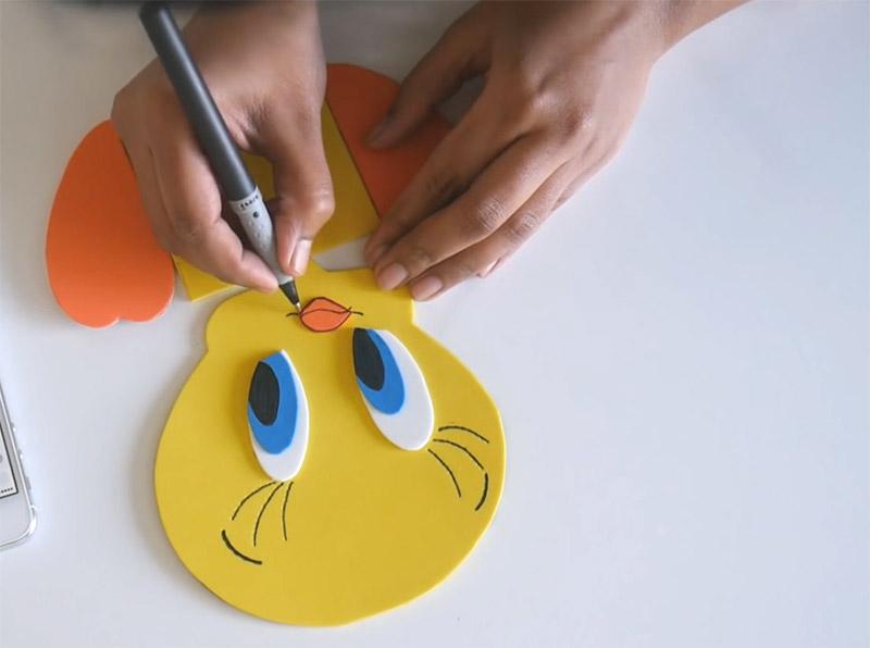 tweety bird notepad diy