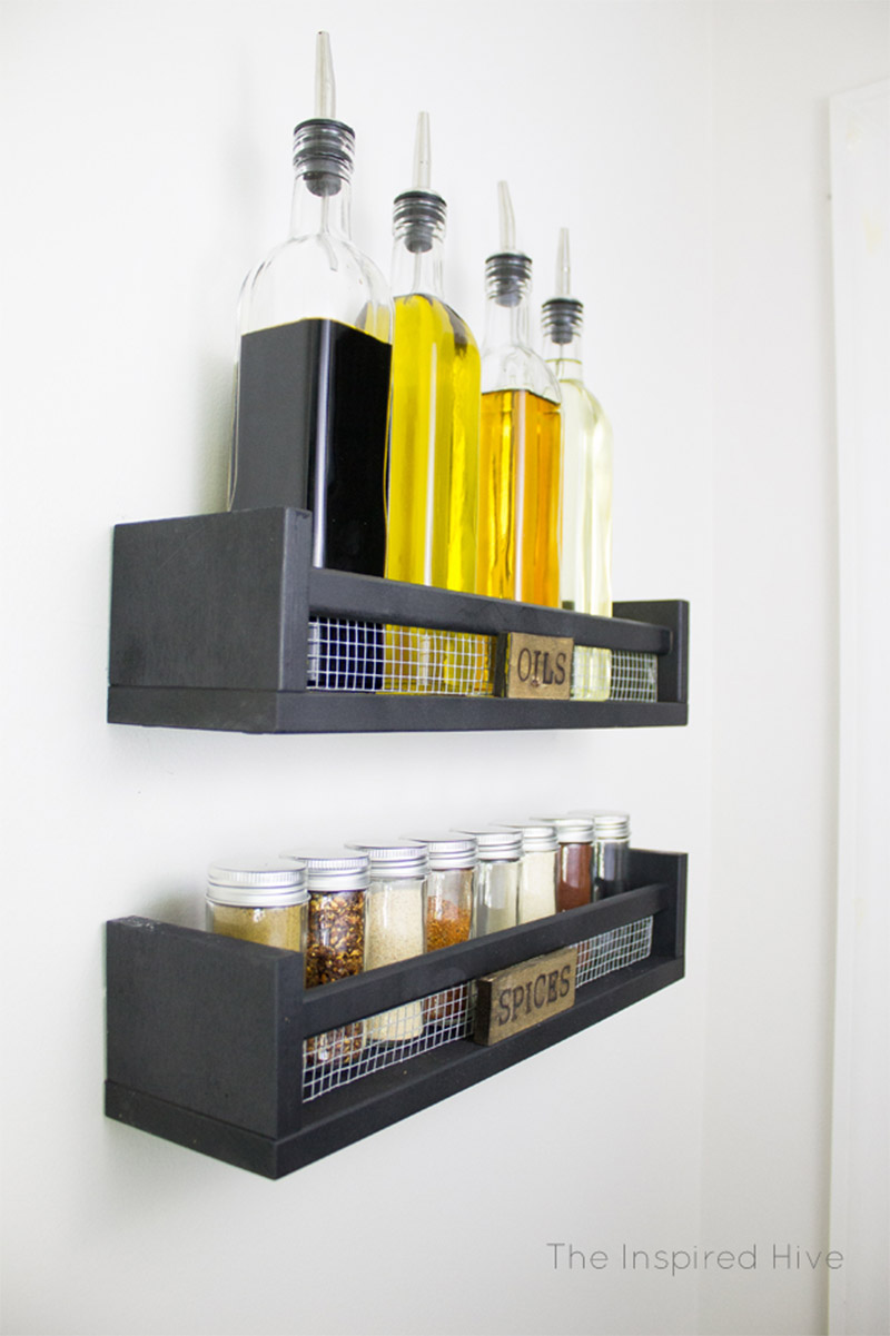 11 DIY Spice Rack Ideas For A Whimiscal Kitchen - Full Home Living