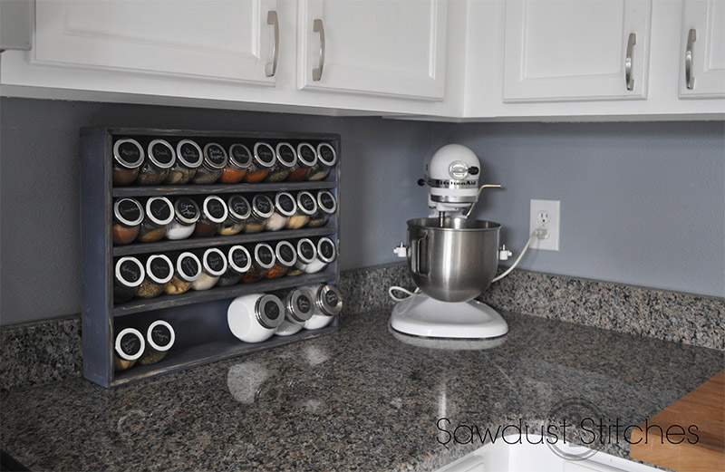 Fantastic 11 DIY Spice Rack Ideas For A Whimiscal Kitchen - Full Home Living QL72