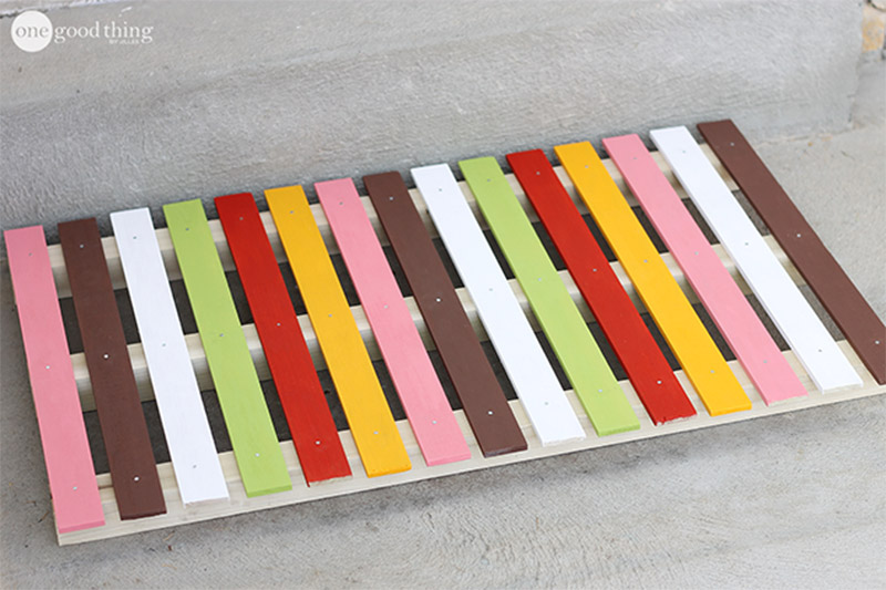 colorful doormat design