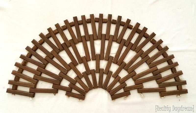 half-circle wooden mat