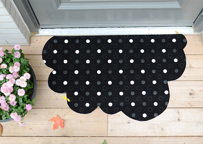 dot cloud diy mat