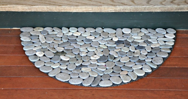 custom rock doormat design