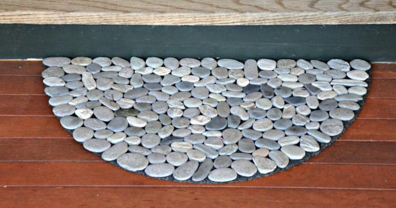 custom rock doormat design