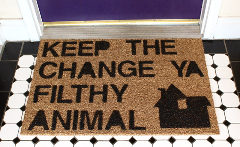 home alone doormat diy