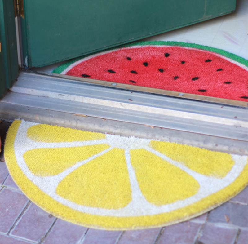 lemon watermelon custom doormat