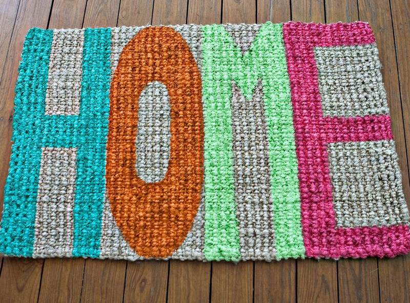 home typography doormat