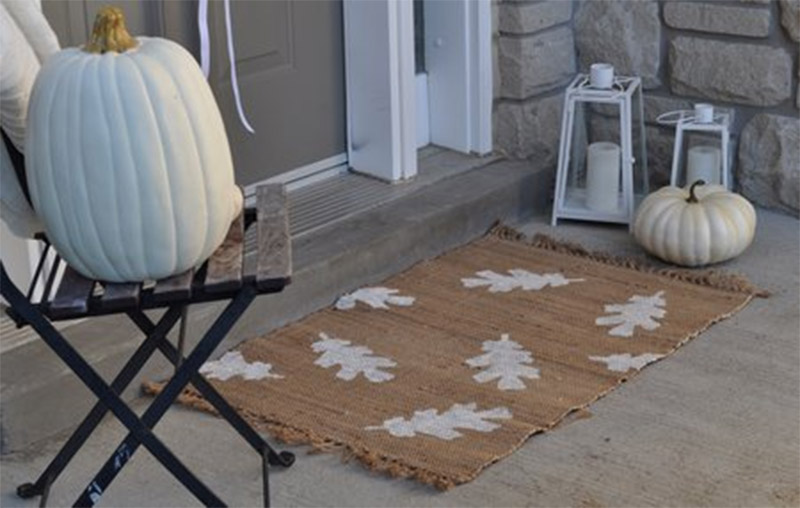 rustic autumn doormat diy