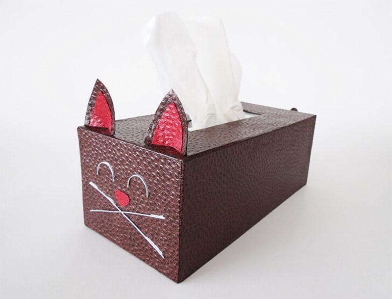 cute kitty tissue box