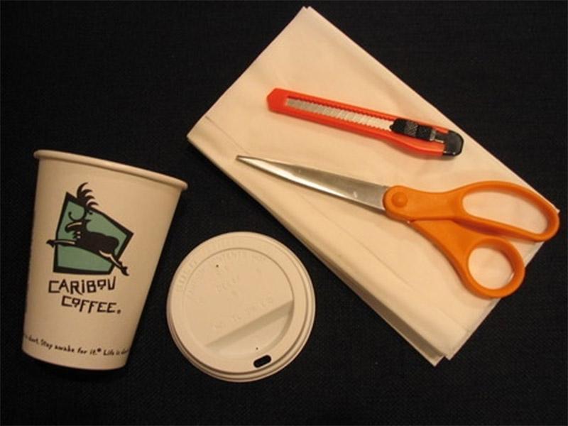 coffee cup dispenser tissue