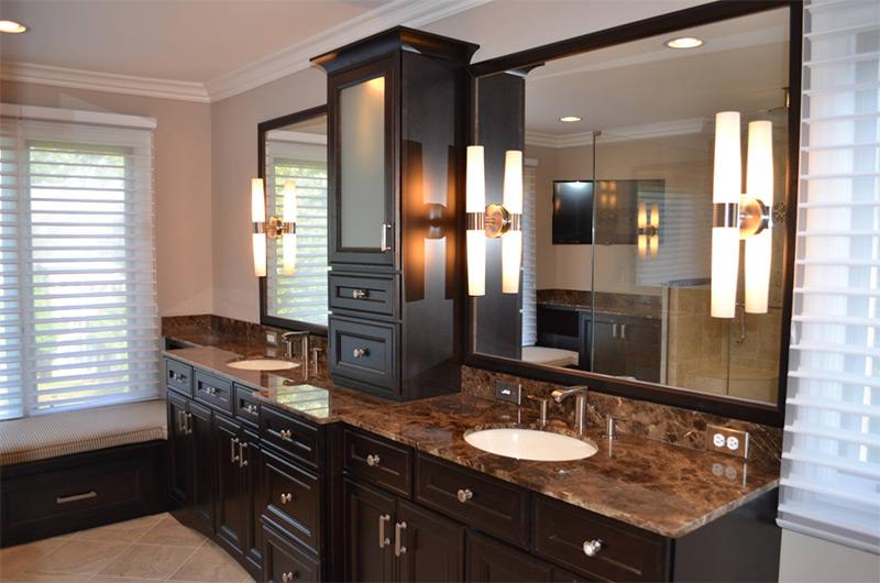 dark brown black cabinet remodel